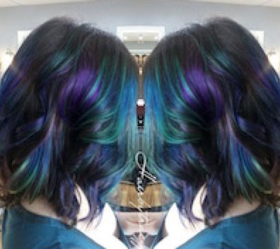 Hair Color Options For The Bold The Beautiful Gallery Of Hair - Peacock hairstyle color